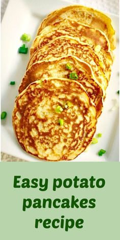 My easy potato pancakes recipe with spring onions and dill is a quick and easy treat for Pancakes Day. They make a great breakfast idea, and a perfect choice if you are after a savoury kind of pancakes, rather than the sugary ones. Brunch Recipes, Appetizer Recipes, Appetizers, Recipes Dinner, Breakfast Recipes, Leftover Mashed Potato Pancakes, Spring Onion Recipes, Great Breakfast Ideas, Potato Side Dishes