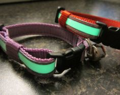 New Colors! Cat Reflective Glow in the Dark break away collar