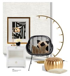 """""""Peyton Modern Classic Art..."""" by gloriettequartet ❤ liked on Polyvore featuring interior, interiors, interior design, home, home decor, interior decorating, Graham & Brown, Bungalow 5, Threshold and Hervé Gambs"""