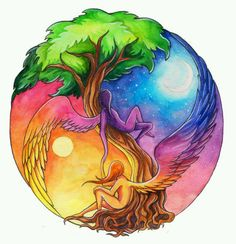 Ying Yang, the tree of life. Yin Yang Tattoos, Psy Art, Doodle Inspiration, Art Plastique, Tree Of Life, Cool Tattoos, Cool Art, Spirituality, Images