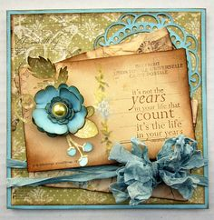 Love this card made with Unity Stamps , Pion Paper, and Cottage Cutz Dies.