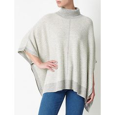 Cashmere poncho? Yes please! Cosy, warm, soft and all about winter hygge style.