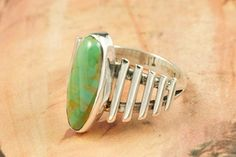 Genuine Crow Springs Turquoise set in Sterling Silver Ring. The Crow Springs Mine is located near Tonopah, Nevada. Created by Navajo Artist Thomas Valencia. Signed. $84.00 http://www.treasuresofthesouthwest.com/turquoise-rings.html