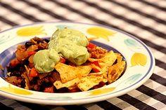 veganer, mexikanischer Tortillasalat