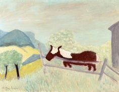 Milton Avery (1885-1965) Horse with a White Mane (1943) oil on canvas 71 x 91.44 c