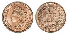 Indian Head Cent Small Cents, Copper-Nickel Oak Wreath With Shield (1860-1864)
