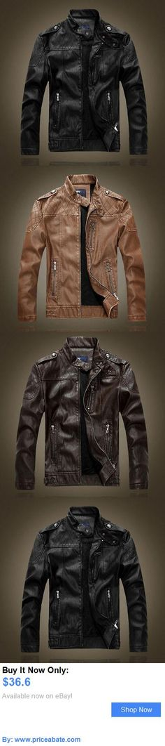 Men Coats And Jackets: Mens Lambskin Leather Jacket Black Slim Fit Biker Motorcycle Jacket BUY IT NOW ONLY: $36.6 #priceabateMenCoatsAndJackets OR #priceabate