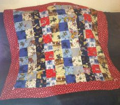 I made this. Warm and Cozy Cowboy Quilt by Avance0306 on Etsy, $85.00