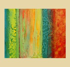 Abstract acrylic painting modern original fine art Titled..Maize and Cool.Size-36x48- By Ava Avadon