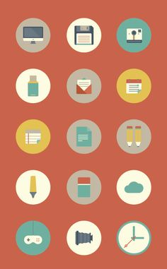 Flat Icons Set | Graficheria