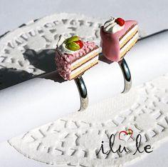 кольцо торт  кольцо пирожноекольцо миниатюракольцо от IluLe, $10.00