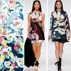 We're using the @dior Resort15 collection to inspire us in preparation for our Abstract Florals for textile design course at The Print School. For details check the link in our bio! #textiledesign #theprintschool #longinaphillipsdesigns #dior #floral
