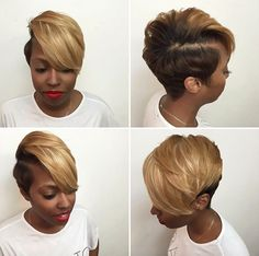Modern Buzz-Cut - 20 Bold and Daring Takes on the Shaved Pixie Cut - The Trending Hairstyle Shaved Pixie Cut, Shaved Bob, Shaved Sides, Curly Hair Styles, Natural Hair Styles, Sassy Hair, Mommy Hair, Cut Life, Hair Laid