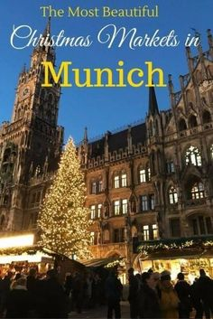 Munich has an unbelievable 24 Christmas Markets! It's one of the best cities in Germany to celebrate the holiday season. Here are 5 of the most beautiful Christmas markets in the Bavarian capital to visit during your December travel Christmas Markets Germany, German Christmas Markets, Christmas Markets Europe, Christmas Travel, Holiday Travel, Prague Christmas, Christmas Getaways, Christmas Destinations, Christmas Holidays