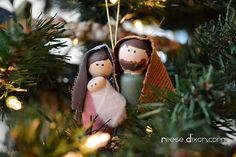 DIY Holy Family Ornament...Love.