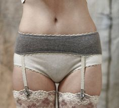 WINTER Cashmere and merino knickers and garters = cute!