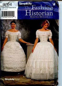 simplicity civil war patterns | Simplicity Fashion Historian Civil War Undergarments, Crinoline, Hoop ...