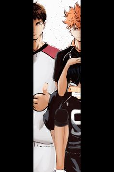 HAHAHA hinata on kageyama's shoulders to be on level with ushijima