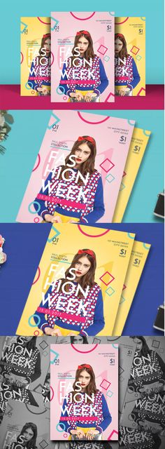 Pop Fashion Flyer Template PSD