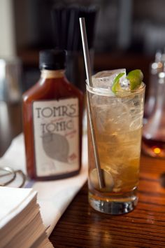 The Perfect 1, 2, 3 Gin & Tonic :: Fill a highball Glass with Ice, add:  1 oz - Tomr's Tonic Syrup, 2 oz - Your Favorite Gin, 3 oz - Club Soda. Stir. Drink. Repeat.