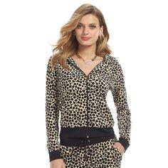 Juicy Couture Leopard Velour Track Suit Outfit - Women's