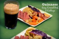 Easy Guinness Corned Beef & Cabbage Recipe for St Patrick's Day! Corned Beef Recipes, Corn Beef And Cabbage, Cabbage Recipes, St Patricks Day, Tuna, Fish, Holiday, Recipes For Kale