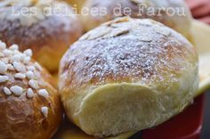 Easy and ultra sweet brioche recipe - - Homemade Dinner Rolls, Brunch, Donuts, Flaky Pastry, Food Humor, Food Menu, Love Food, Sweet Recipes, Crockpot