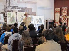 John James Audubon visits with a school group
