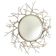 Superior Twig Wall Mirror, Nickel Design Ideas