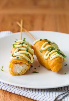 spicy tuna roll corn dog is sushi on a stick id e de recette cuisines et recettes. Black Bedroom Furniture Sets. Home Design Ideas
