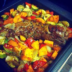 Paleo Pork Tenderloin & Roasted Veggies