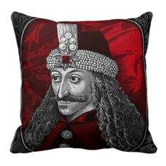 Vlad Dracula Gothic Throw Pillows