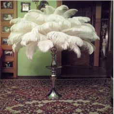 Image result for ostrich feather lamp