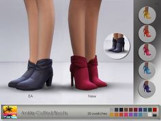 Elfdor: Ankle Cuffed Boots • Sims 4 Downloads