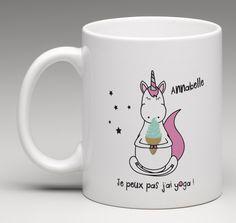 mug cadeau personnalisé pour toutes les fans de licornes ! un cadeau aussi joli qu'utile, qui plaira à coup sûr.