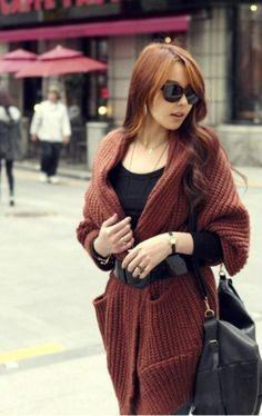 Chic Dolman Cropped Sleeve Women Long Cardigan Sweater with Pockets on BuyTrends.com, only price $20.10