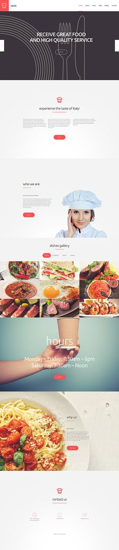 Food & Drink website inspirations at your coffee break? Browse for more WordPress #templates! // Regular price: $75 // Sources available: .PSD, .PHP, This theme is widgetized #Food & Drink #WordPress