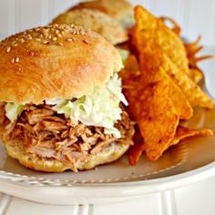Make this pulled pork in your crock pot and beat the heat! #foodgawker