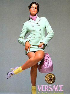 Stephanie Seymour for Versace F/W 1994 by Richard Avedon.