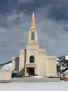 Star Valley Wyoming LDS (Mormon) Temple Construction Photographs