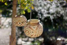 závěsné světýlko Ceramic Angels, Pergola, Pottery, Clay, Random, Ceramica, Clays, Outdoor Pergola, Pottery Marks