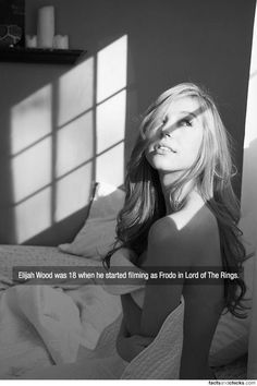 factsandchicks:  Elijah Wood was 18 when he started filming as Frodo in Lord of The Rings.