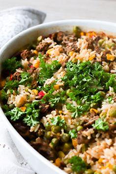 Fried Rice, Fries, Food Ideas, Baking, Dinner, Ethnic Recipes, Dining, Bakken, Food Dinners