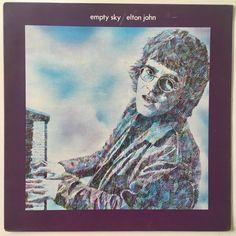 Elton John Empty Sky LP Vinyl Record Album DJM Records