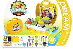 Kitchen Playset for Kids Pretend Play Children Preschool Classic Educational Toy ** This is an Amazon Affiliate link. Continue to the product at the image link.