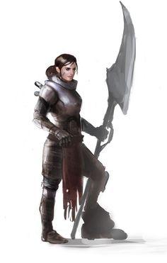 Female Knight by PapayouFR on DeviantArt