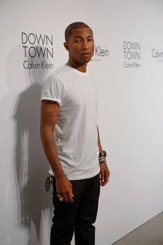 Pharrell Williams at the calvin klein show