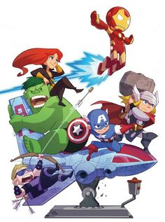 "Marvel ""The Avengers"". Ms Marvel, Chibi Marvel, Marvel Avengers Comics, Avengers Cartoon, Marvel Avengers Assemble, The Avengers, Fan Art Avengers, Avengers Imagines, Young Avengers"