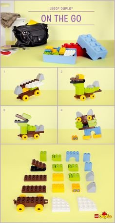 Pop just 20 of your toddler's bricks in your bag and have fun building these DUPLO animals when you're on the go! http://www.lego.com/da-dk/family/articles/on-the-go-fantasy-animals-52bdc32a9a824f3d829c18d1e41645d0