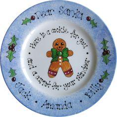 Dear Santa plate.